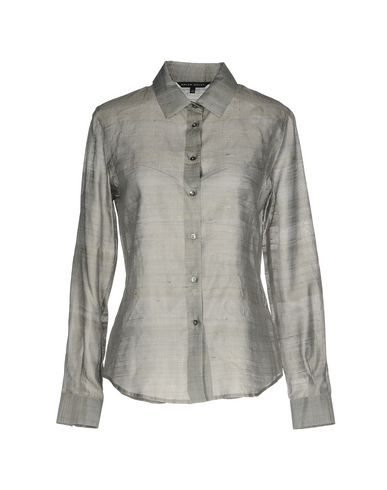 Фото - Pубашка от BRIAN DALES серого цвета