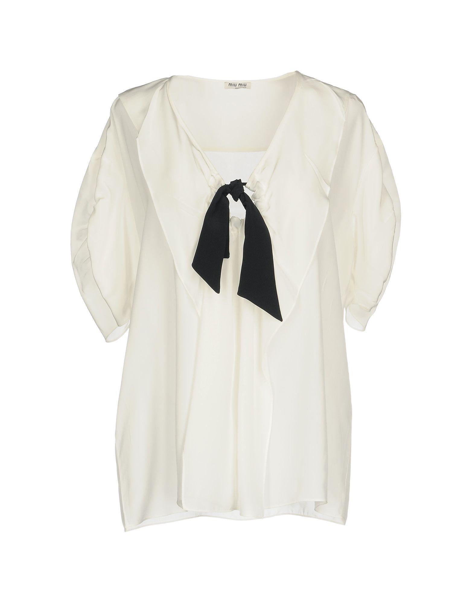 MIU MIU Блузка miu miu черный шерстяной кардиган