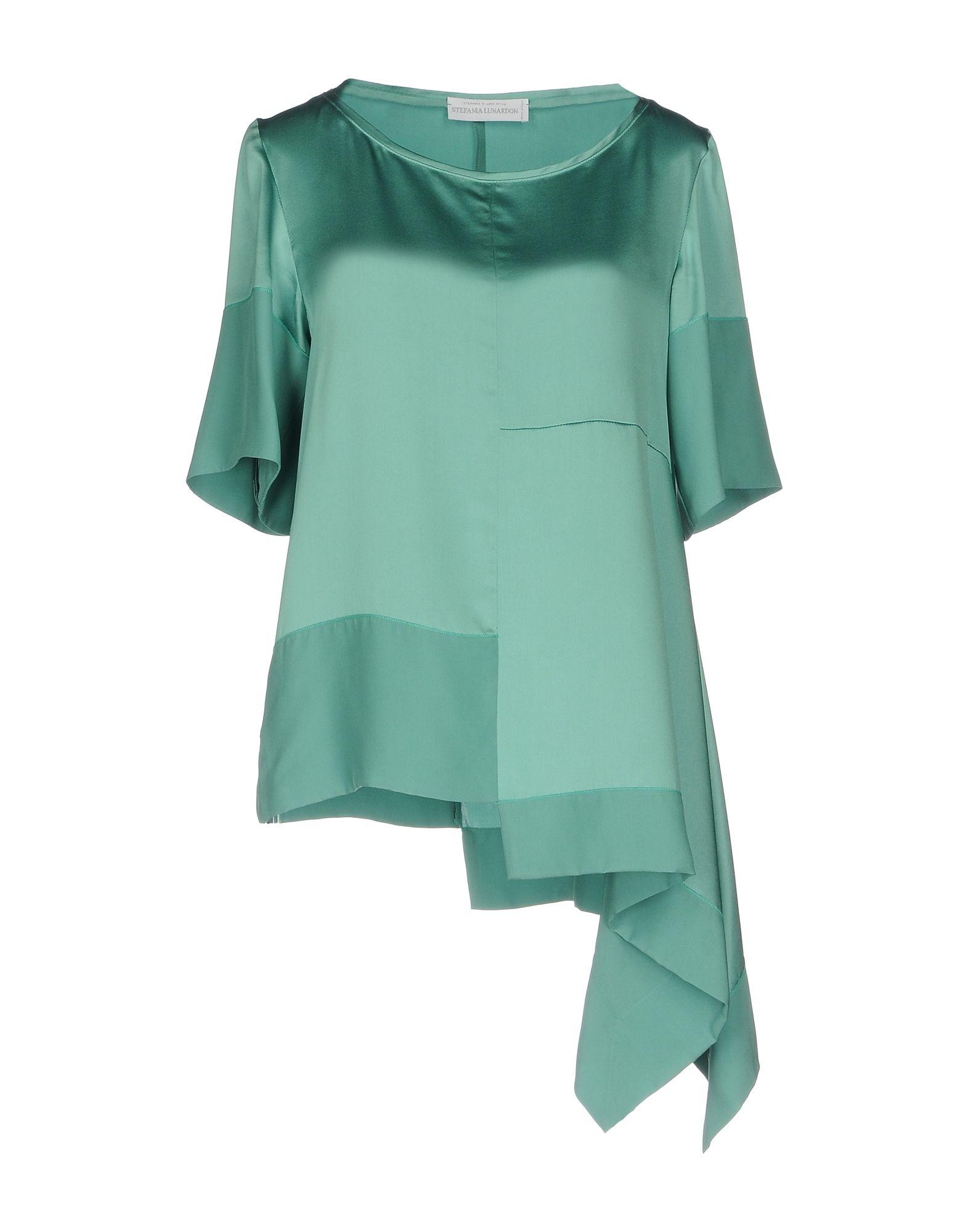 STEFANIA LUNARDON Damen Bluse Farbe Grün Größe 4