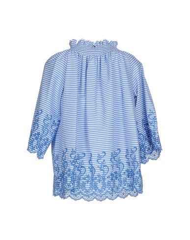 Фото 2 - Женскую блузку P.A.R.O.S.H. синего цвета
