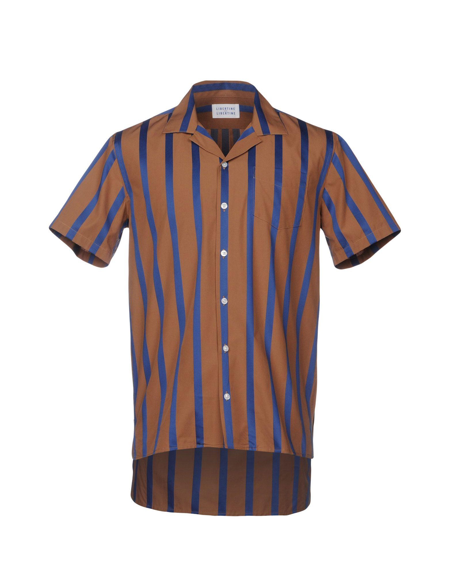 LIBERTINE-LIBERTINE Striped Shirt in Cocoa