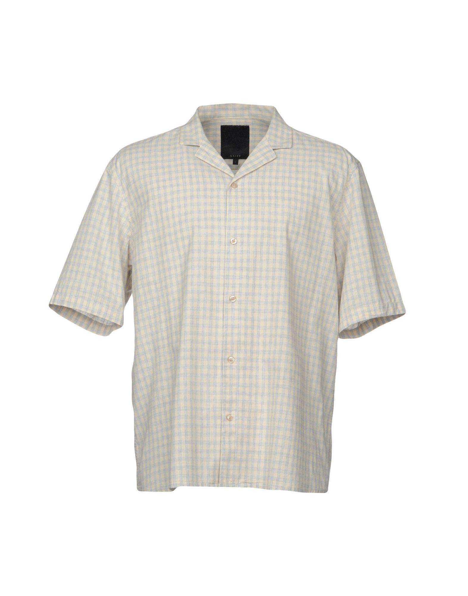 《送料無料》SUIT メンズ シャツ アイボリー S コットン 100%