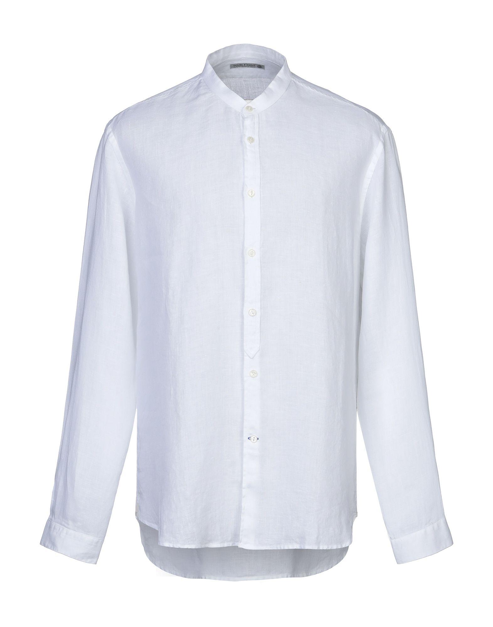 《期間限定セール開催中!》DOUBLE EIGHT メンズ シャツ ホワイト 3XL 麻 100%
