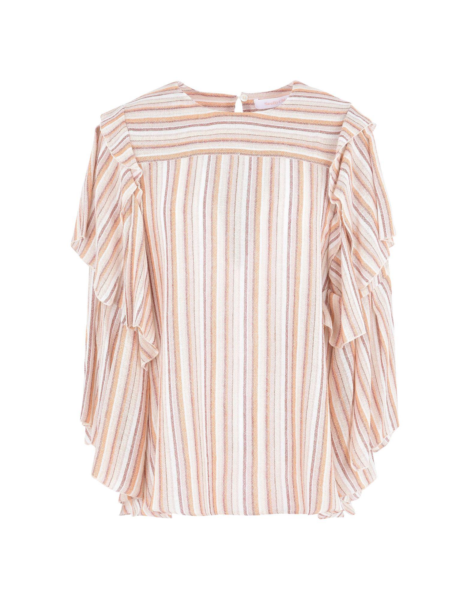 SEE BY CHLOÉ Pубашка see by chloé шерстяное платье в полоску