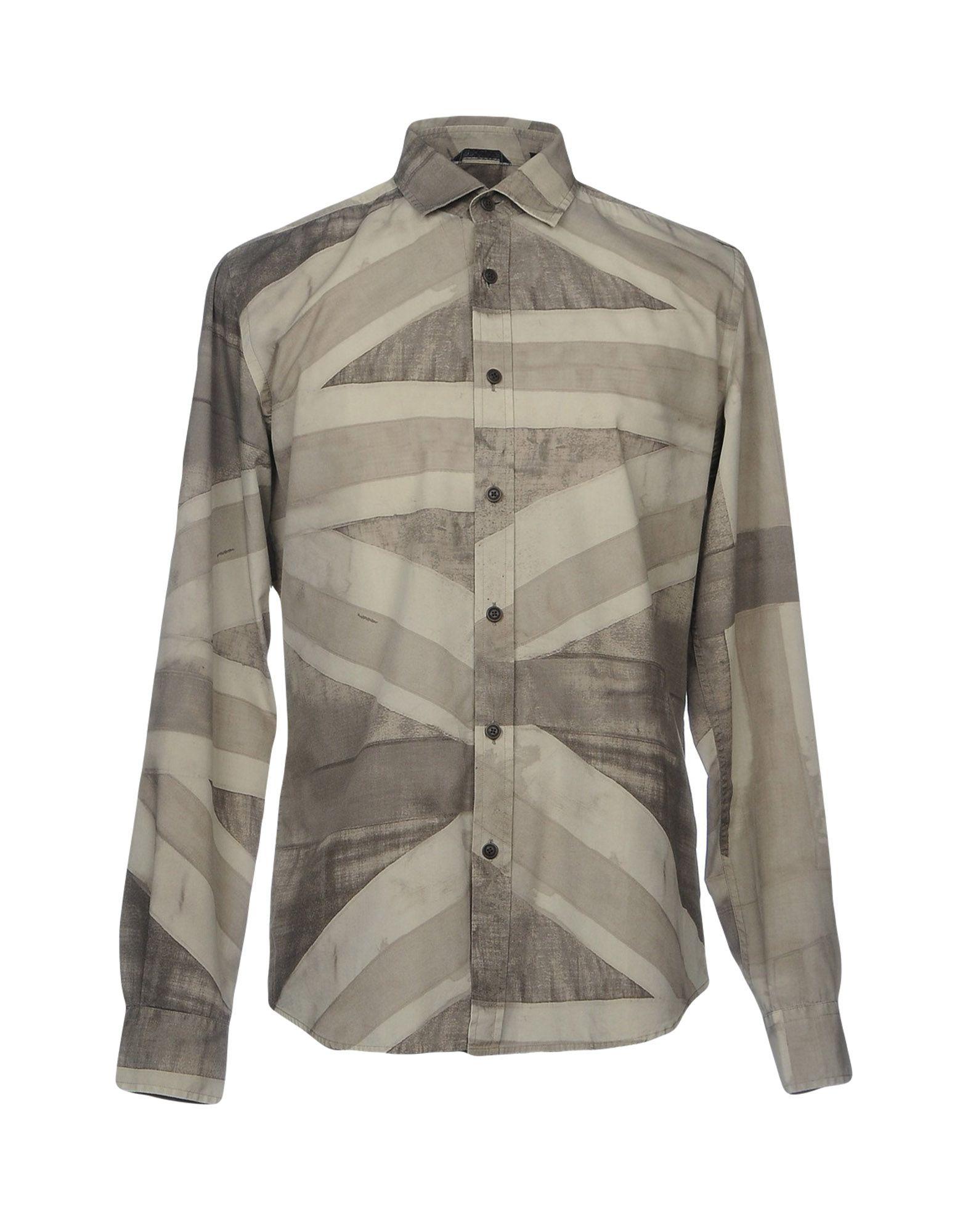 《セール開催中》BELSTAFF メンズ シャツ ミリタリーグリーン 40 コットン 100%