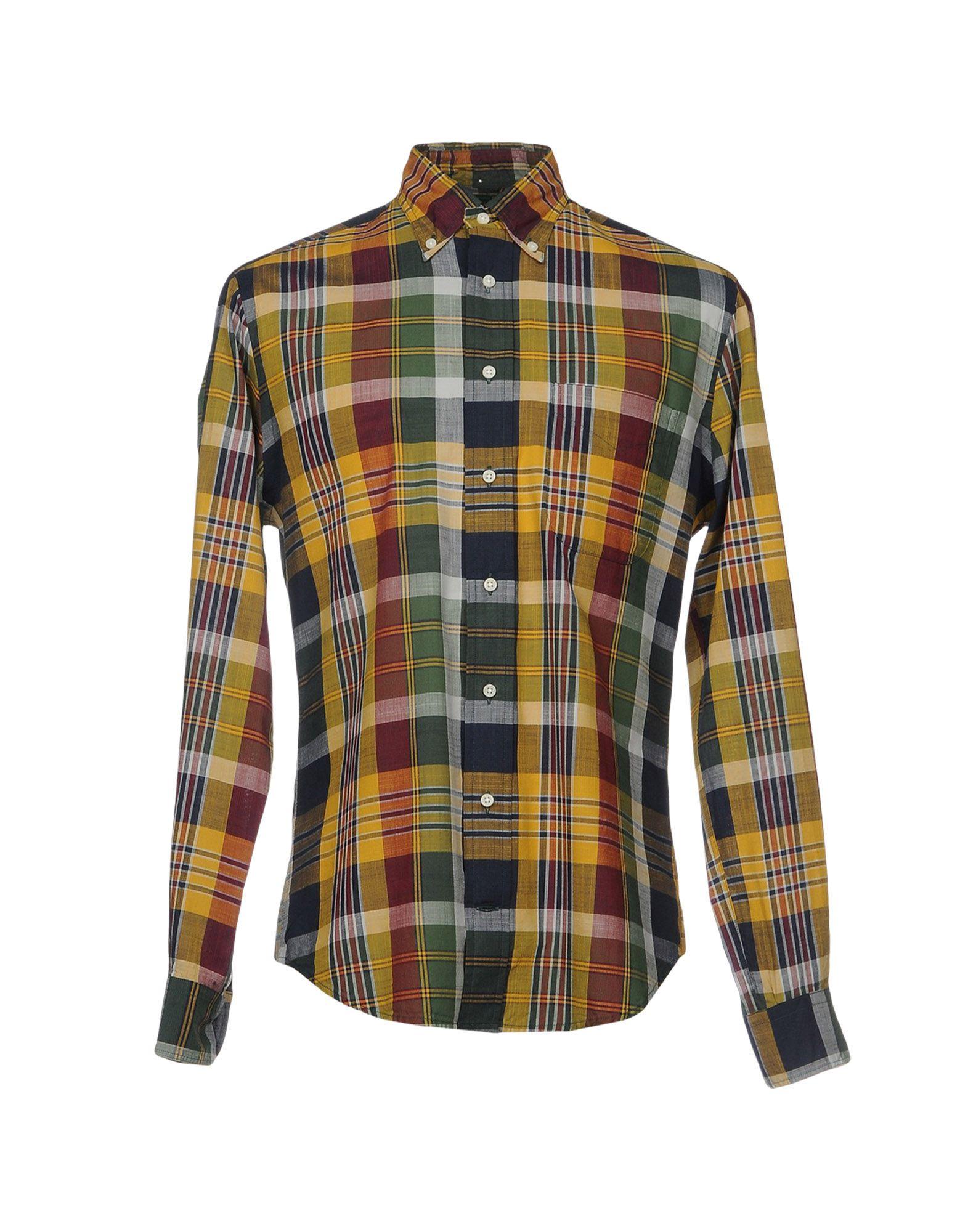 GITMAN BROS. Vintage Herren Hemd Farbe Gelb Größe 5