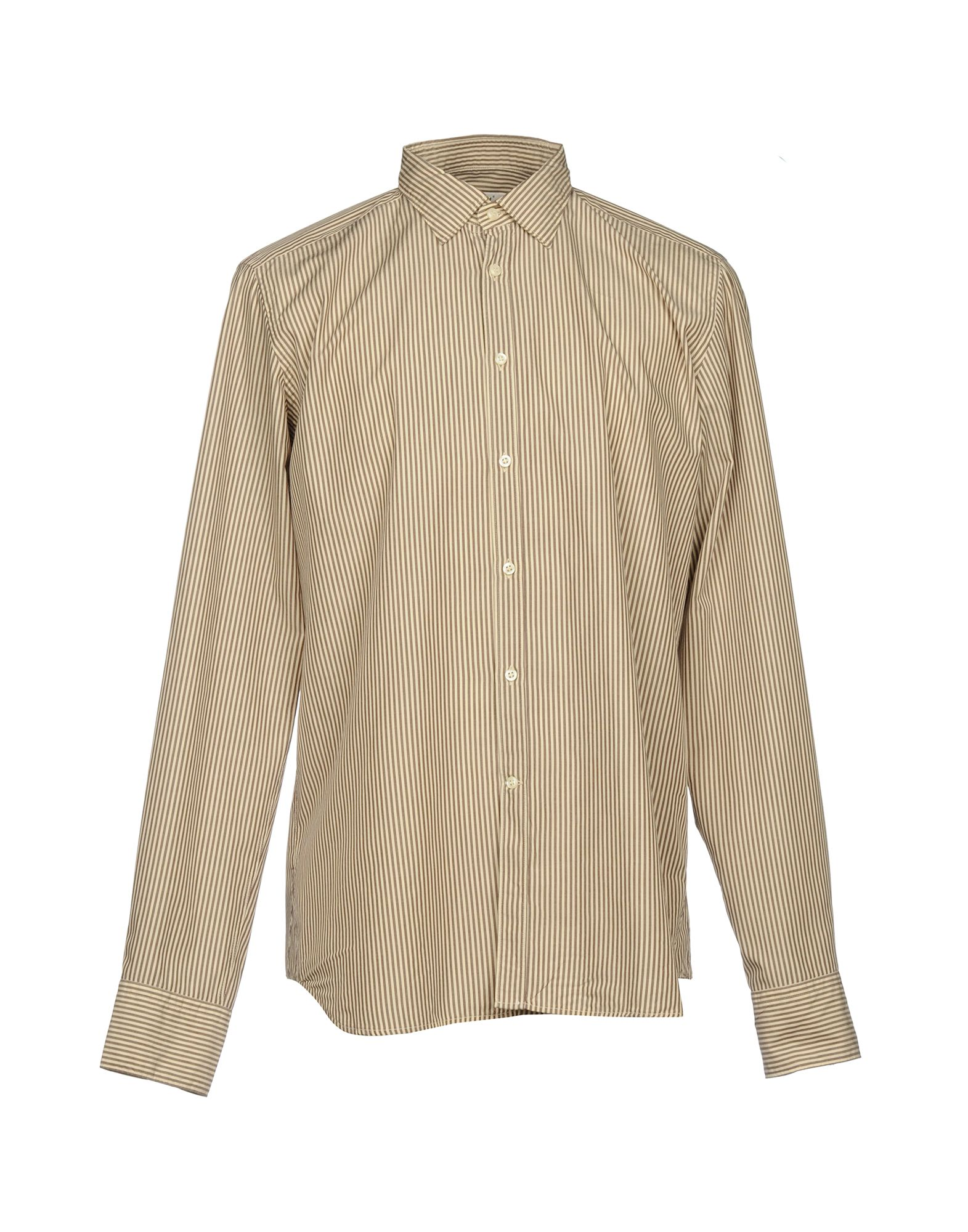 BEVILACQUA Striped Shirt in Beige