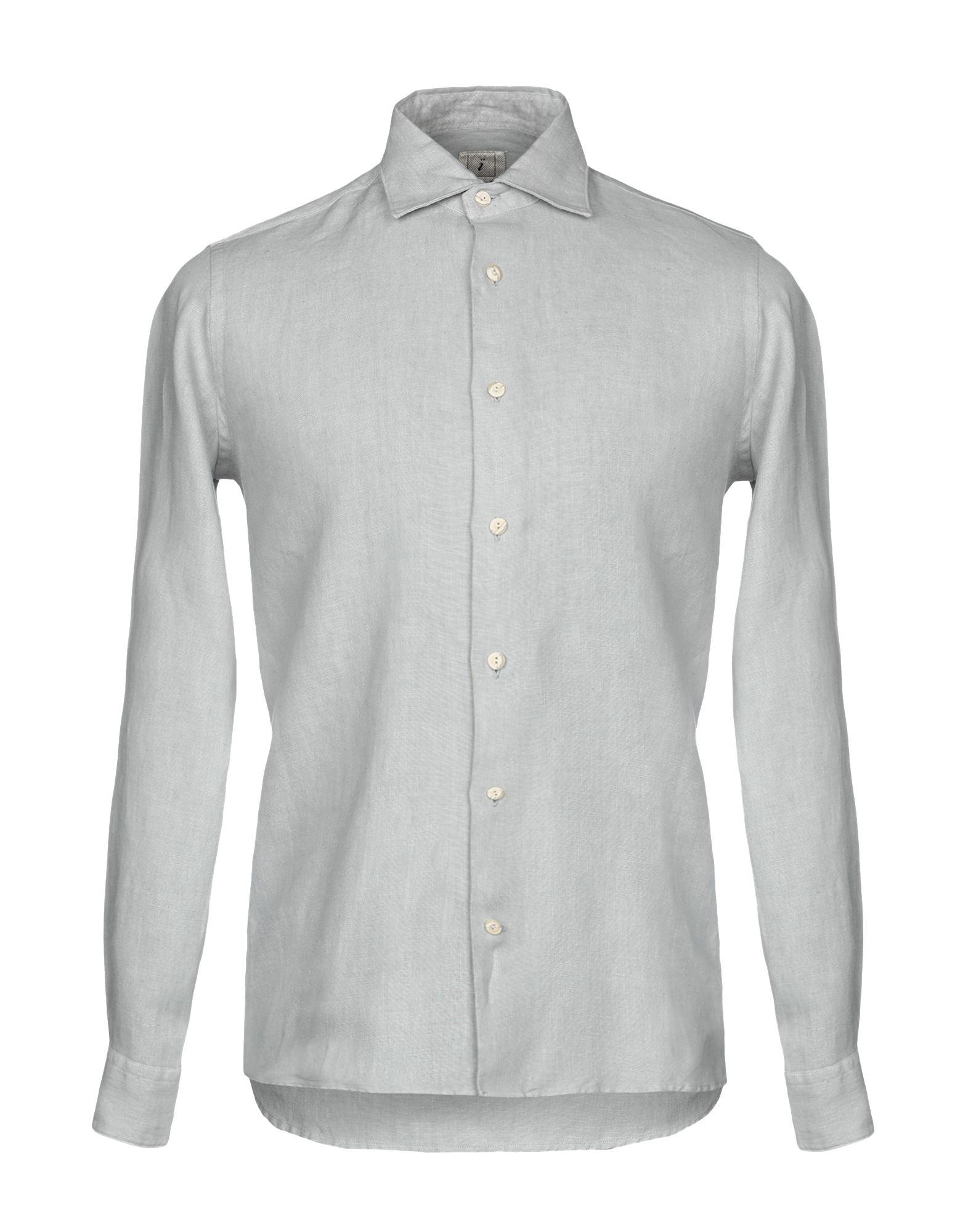 《送料無料》DRUMOHR メンズ シャツ グレー S 麻 100%