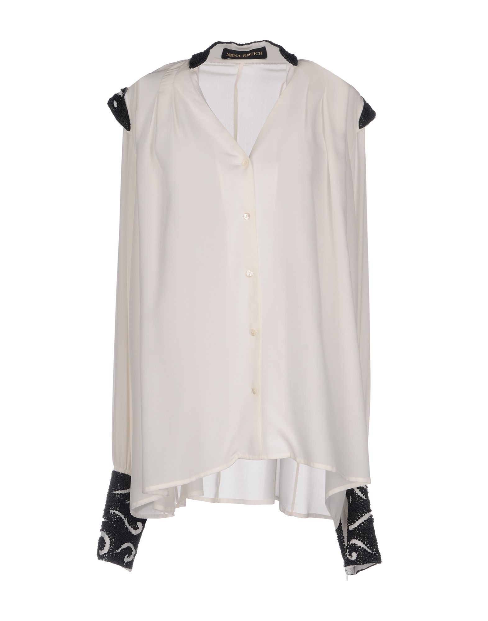NENA RISTICH Silk Shirts & Blouses in White