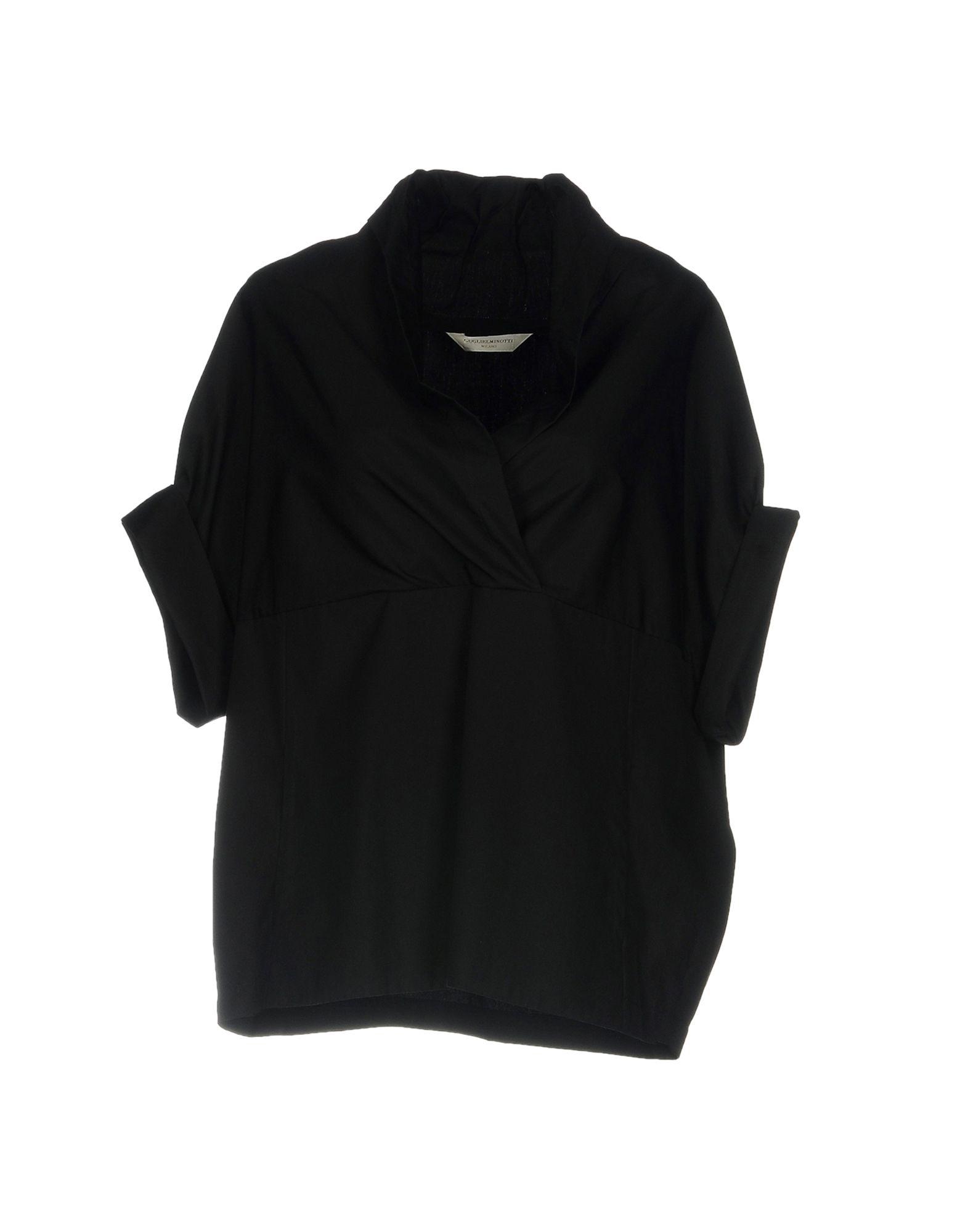 GUGLIELMINOTTI Damen Bluse Farbe Schwarz Größe 6