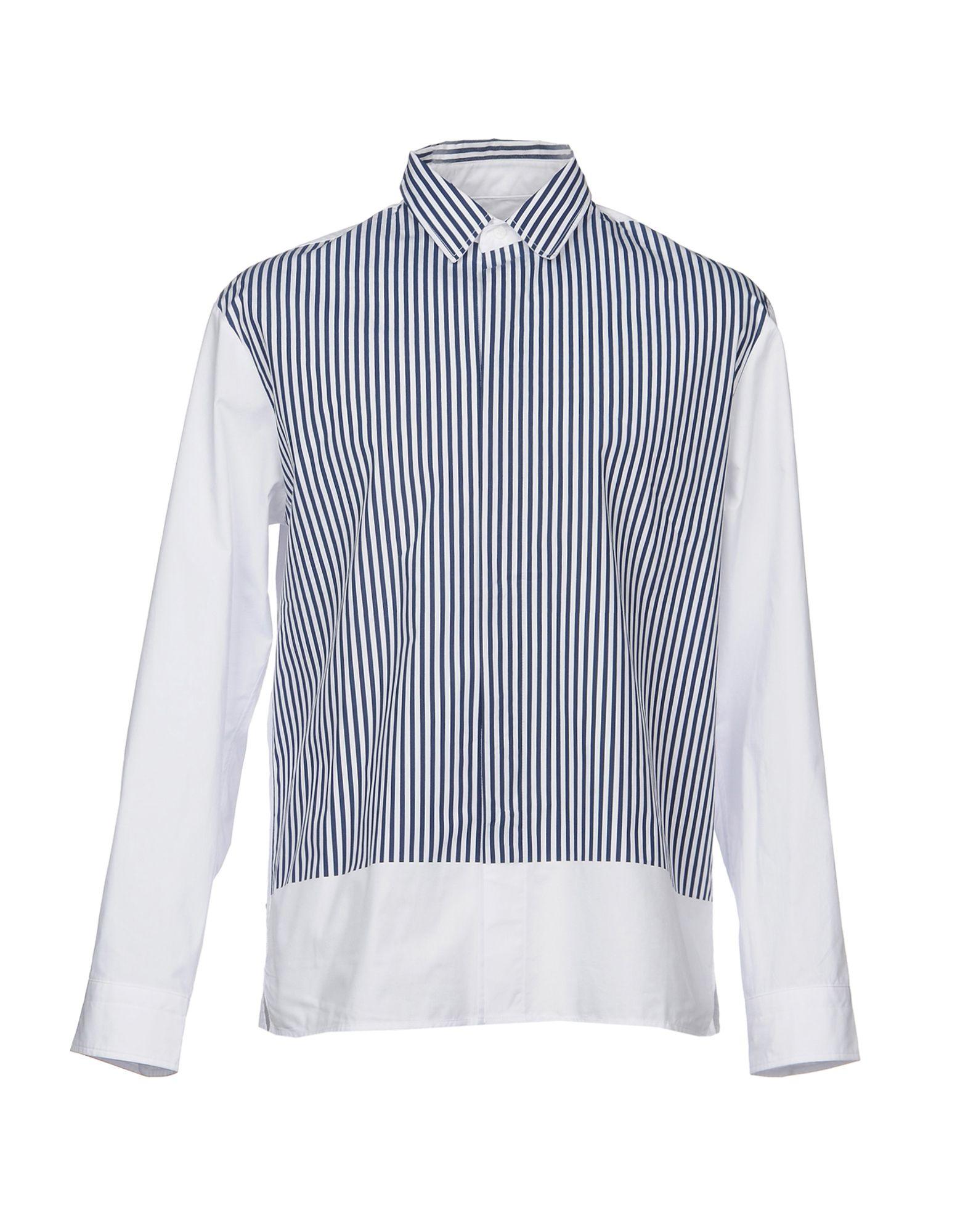 《送料無料》PLAC メンズ シャツ ダークブルー M コットン 100%