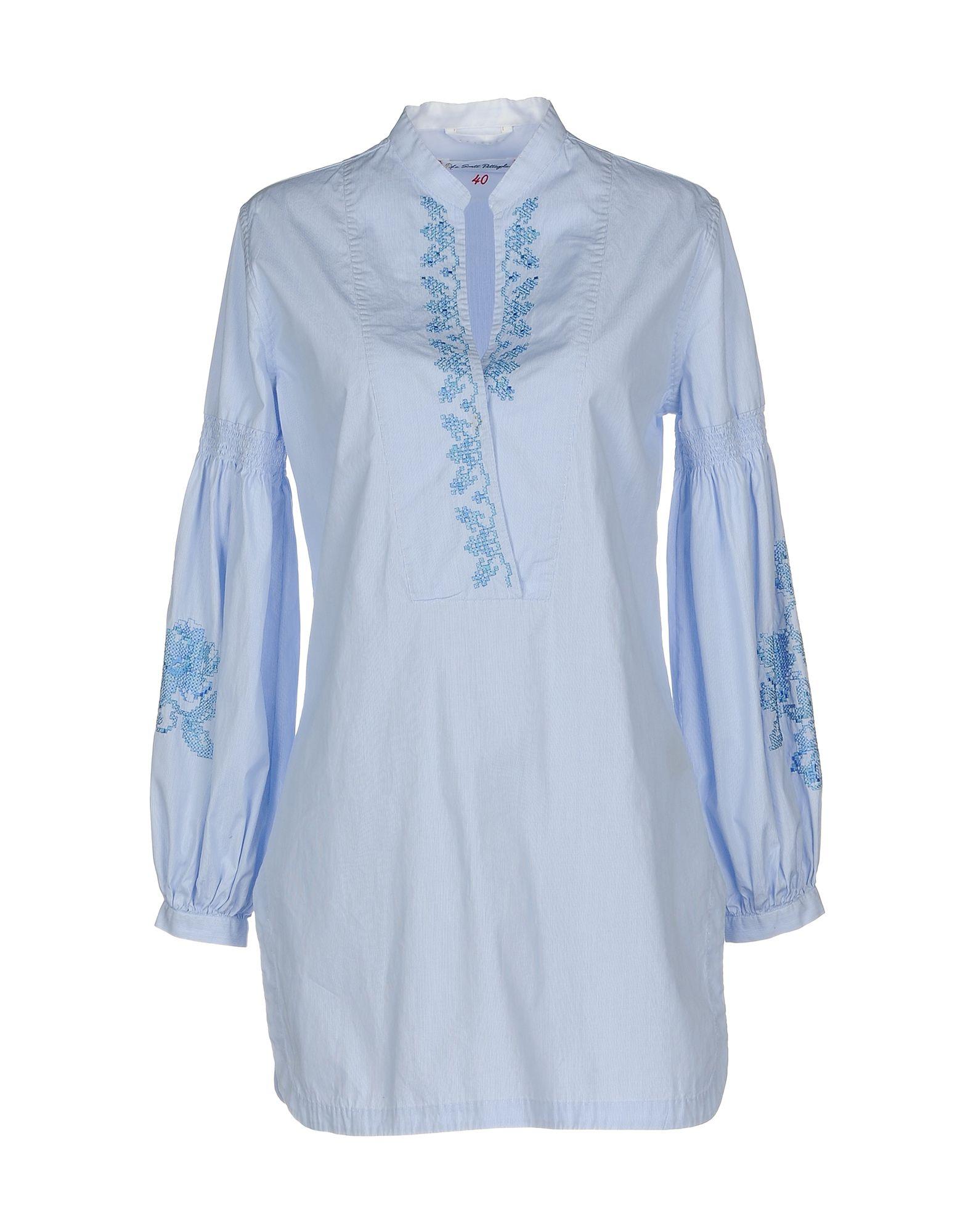 LE SARTE PETTEGOLE Damen Hemd Farbe Himmelblau Größe 6