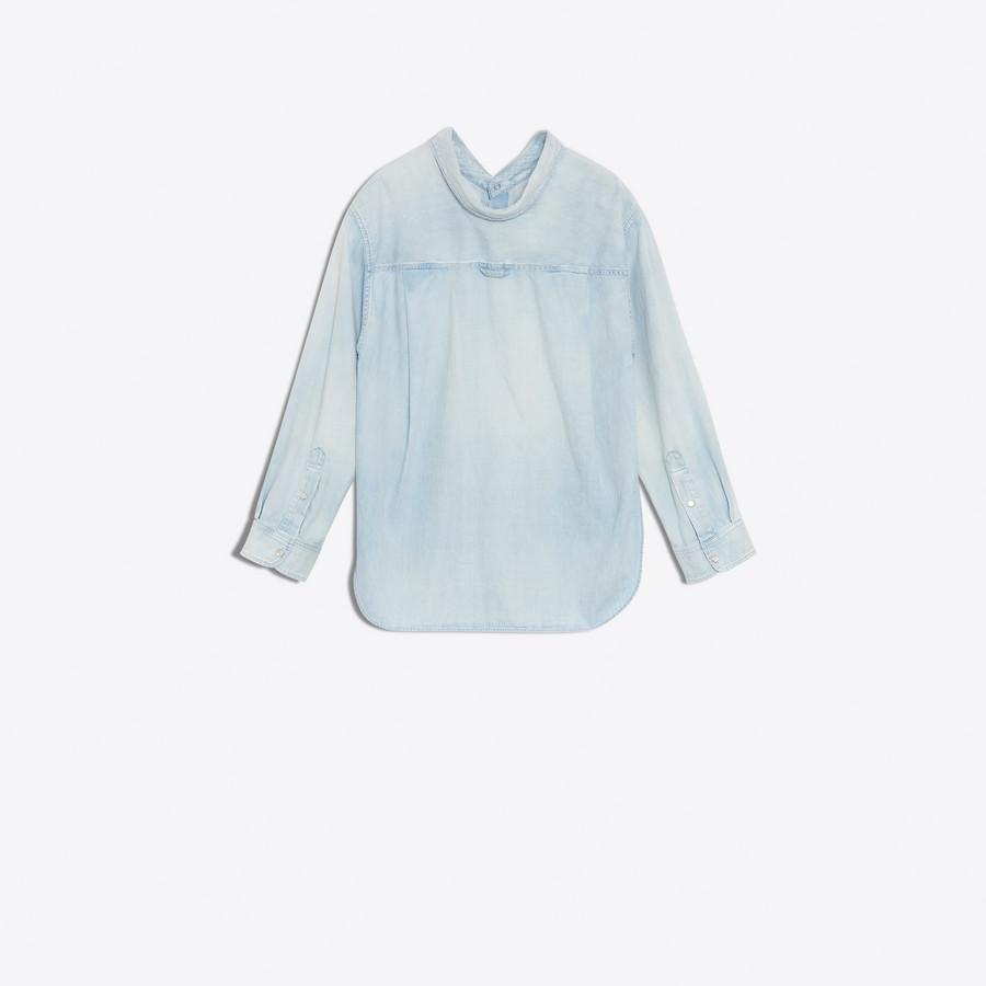 BALENCIAGA Swing Collar Shirt Denim Woman d