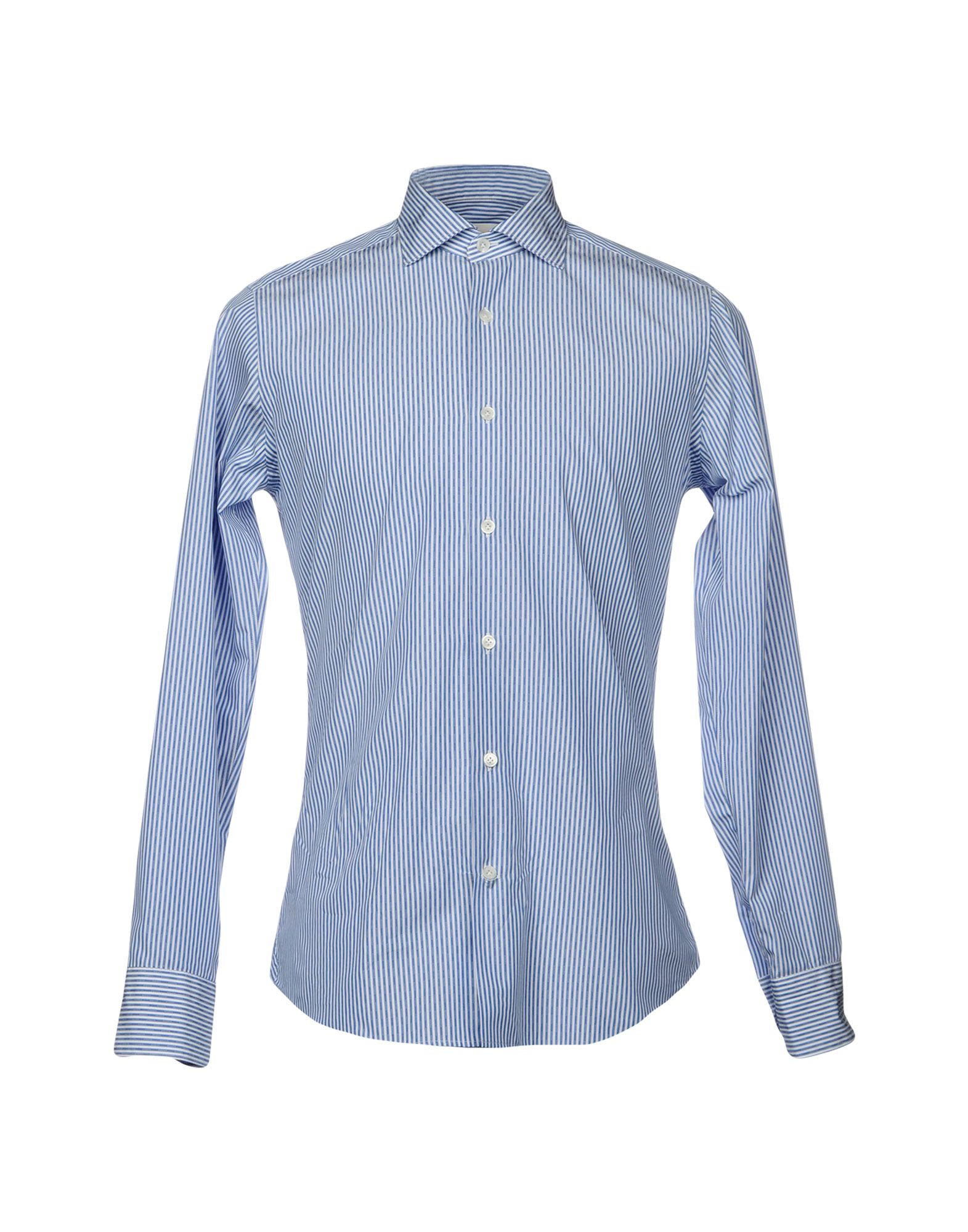 GUGLIELMINOTTI Herren Hemd Farbe Blau Größe 4