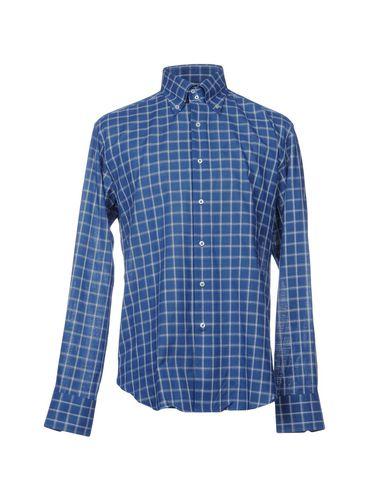 BAGUTTA メンズ シャツ ブルー 42 コットン 100%
