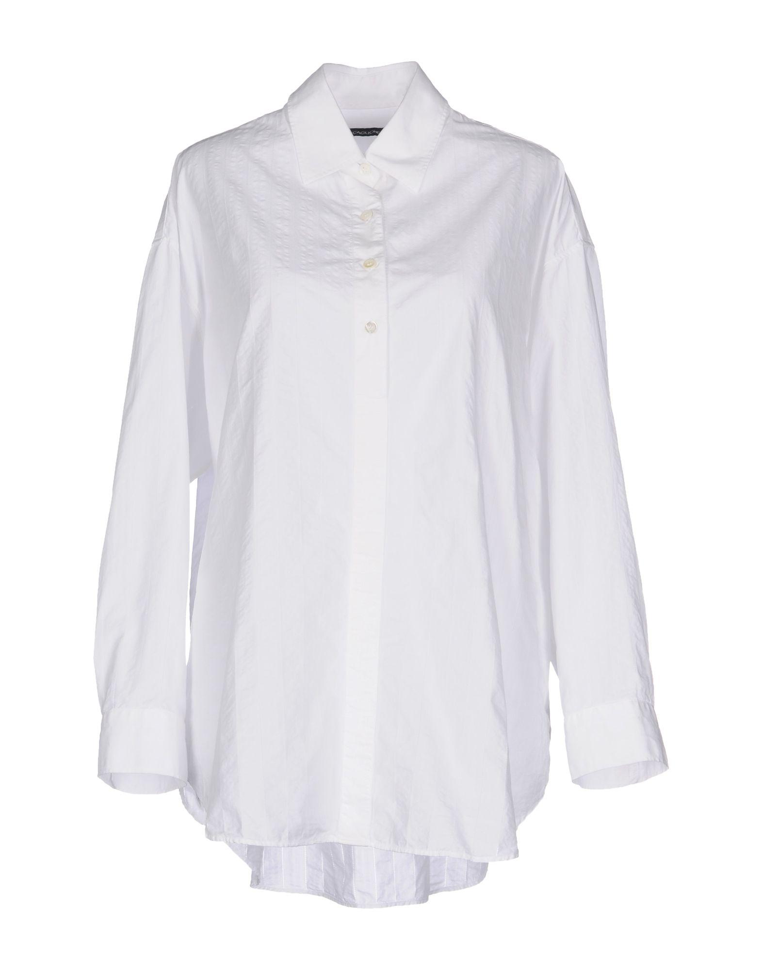 《送料無料》SCAGLIONE CITY レディース シャツ ホワイト 44 コットン 100%
