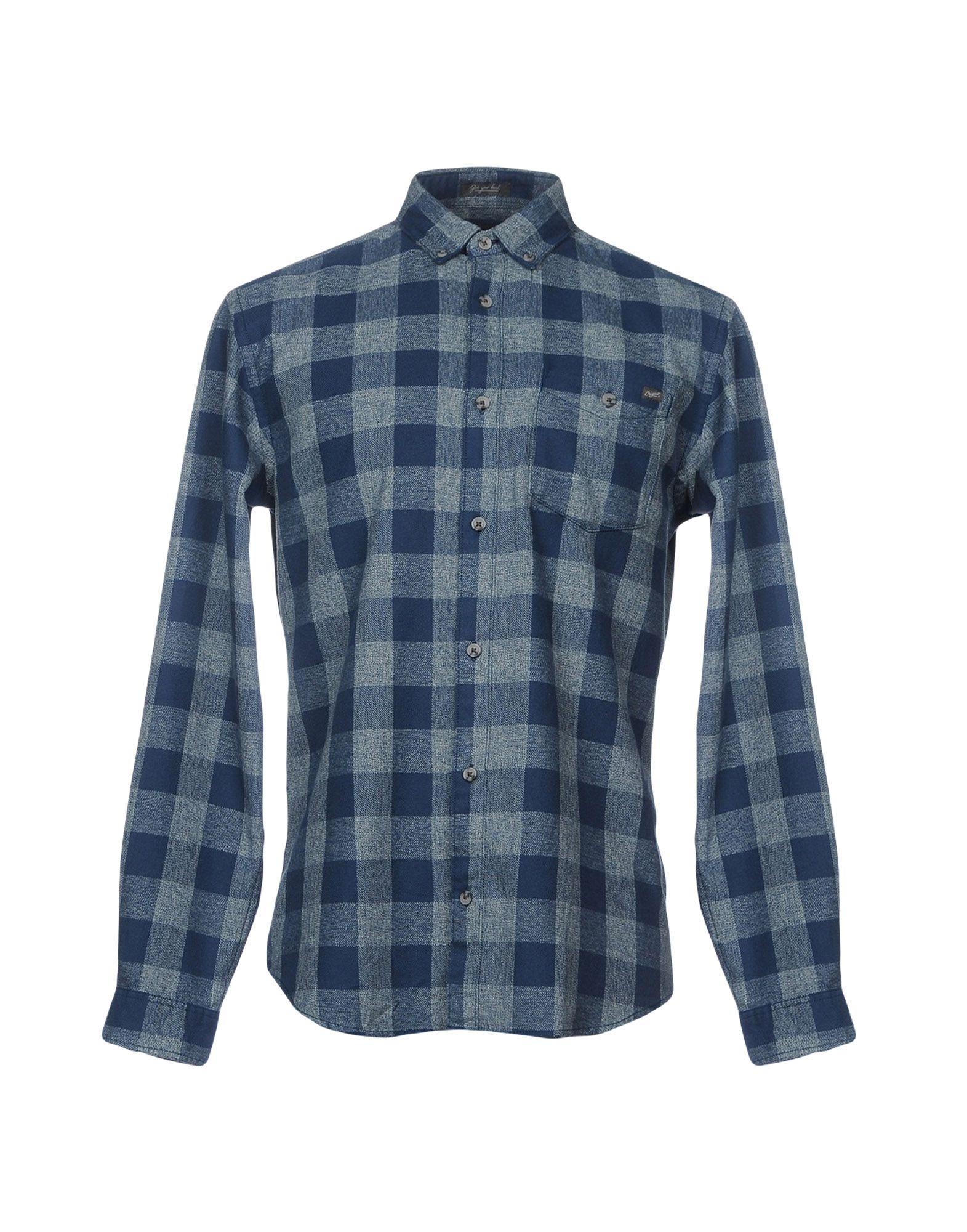 《期間限定セール開催中!》JACK & JONES ORIGINALS メンズ シャツ ブルー S 100% コットン