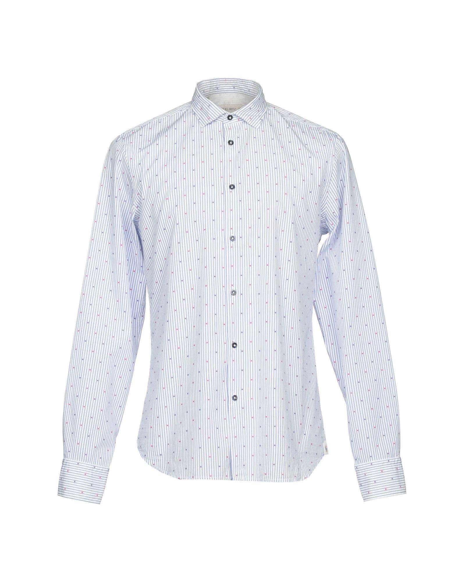 MANUEL RITZ Herren Hemd Farbe Blau Größe 8