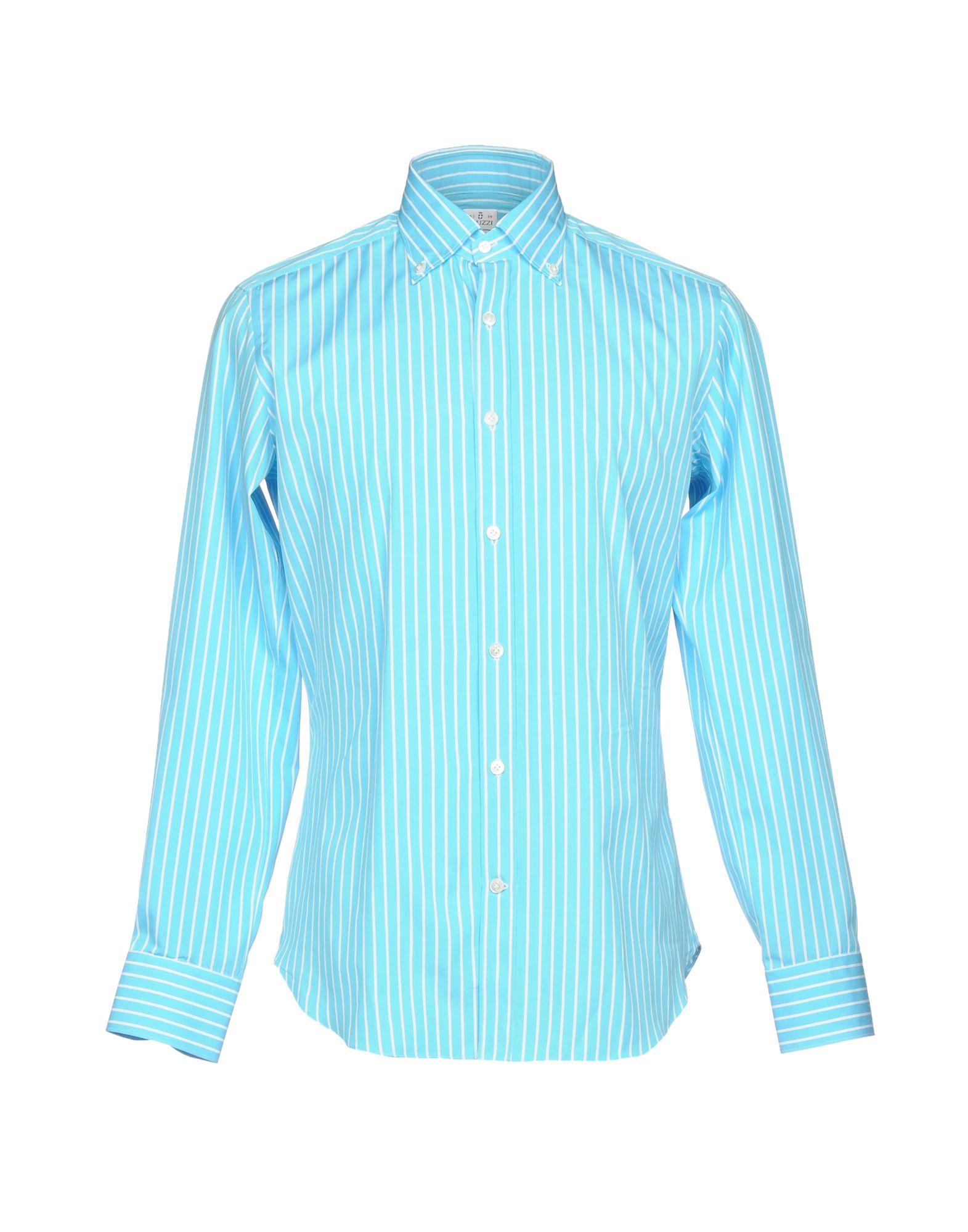 TRUZZI Herren Hemd Farbe Azurblau Größe 6