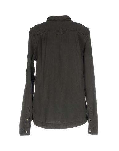 SUPERDRY Damen Hemd Granitgrau Größe XS 100% Tencel®