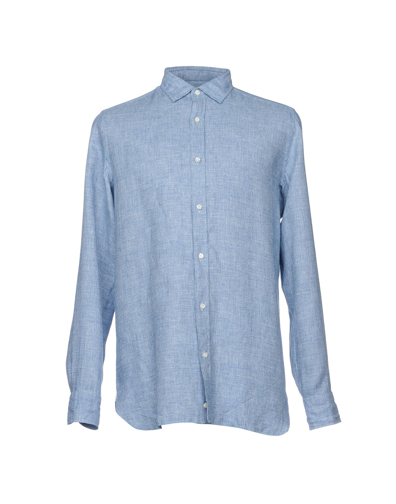 LUIGI BORRELLI NAPOLI Herren Hemd Farbe Blau Größe 5