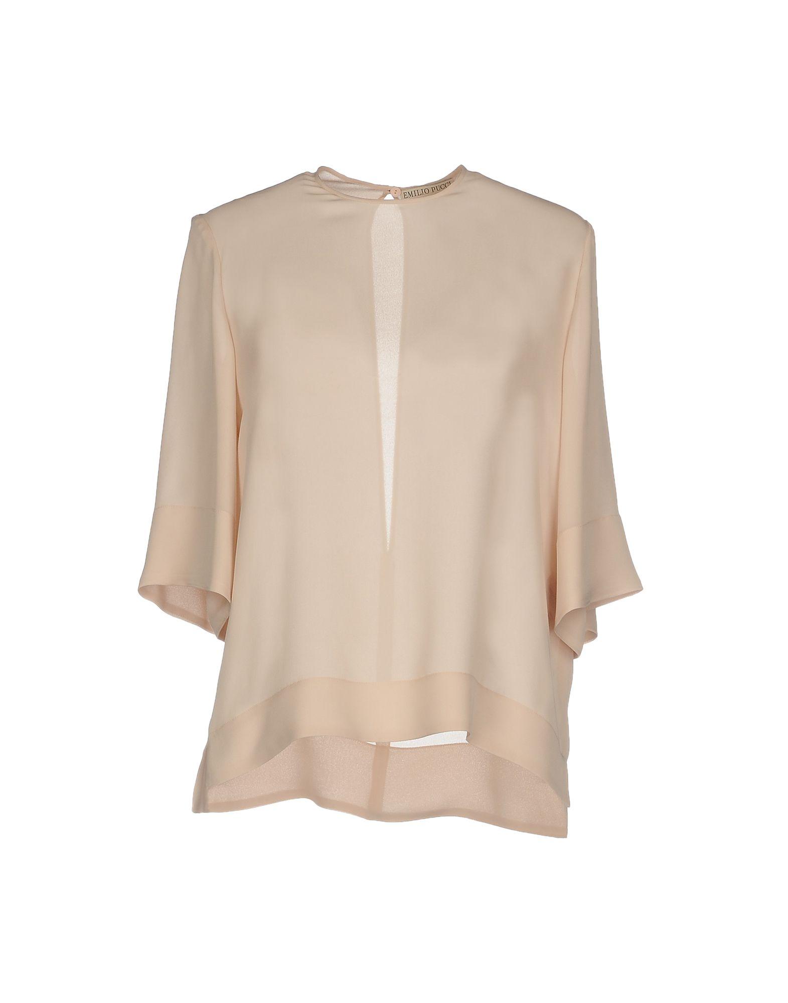 EMILIO PUCCI Блузка блузка с рисунком короткие рукава вырез сзади