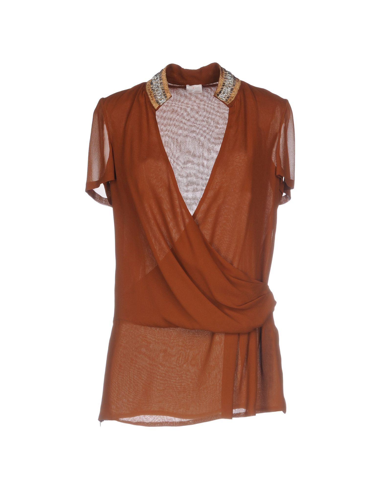 KITON Damen Bluse Farbe Braun Größe 4