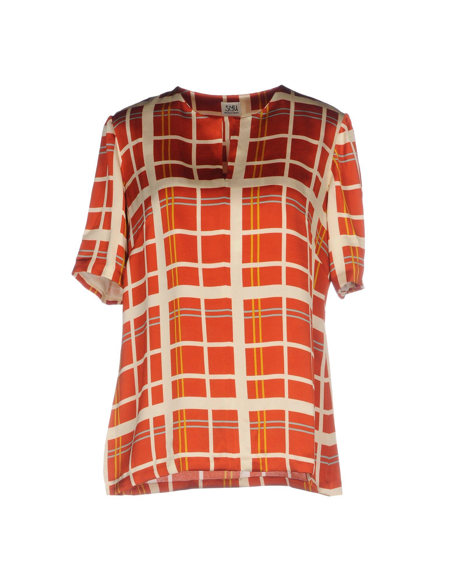SIYU Damen Bluse Farbe Rot Größe 8
