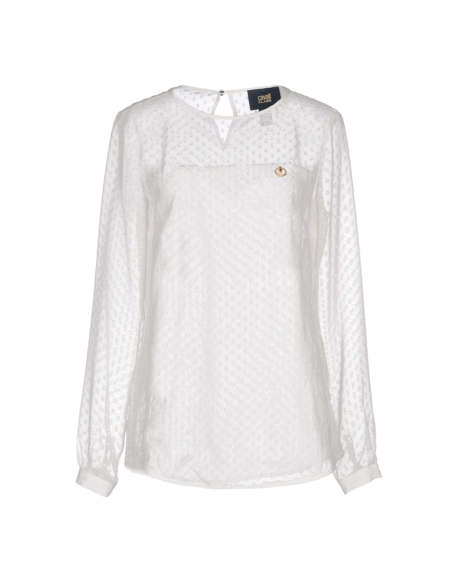 CLASS ROBERTO CAVALLI Damen Hemd Farbe Weiß Größe 3