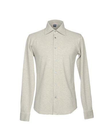FEDELI メンズ シャツ グレー 54 コットン 100%