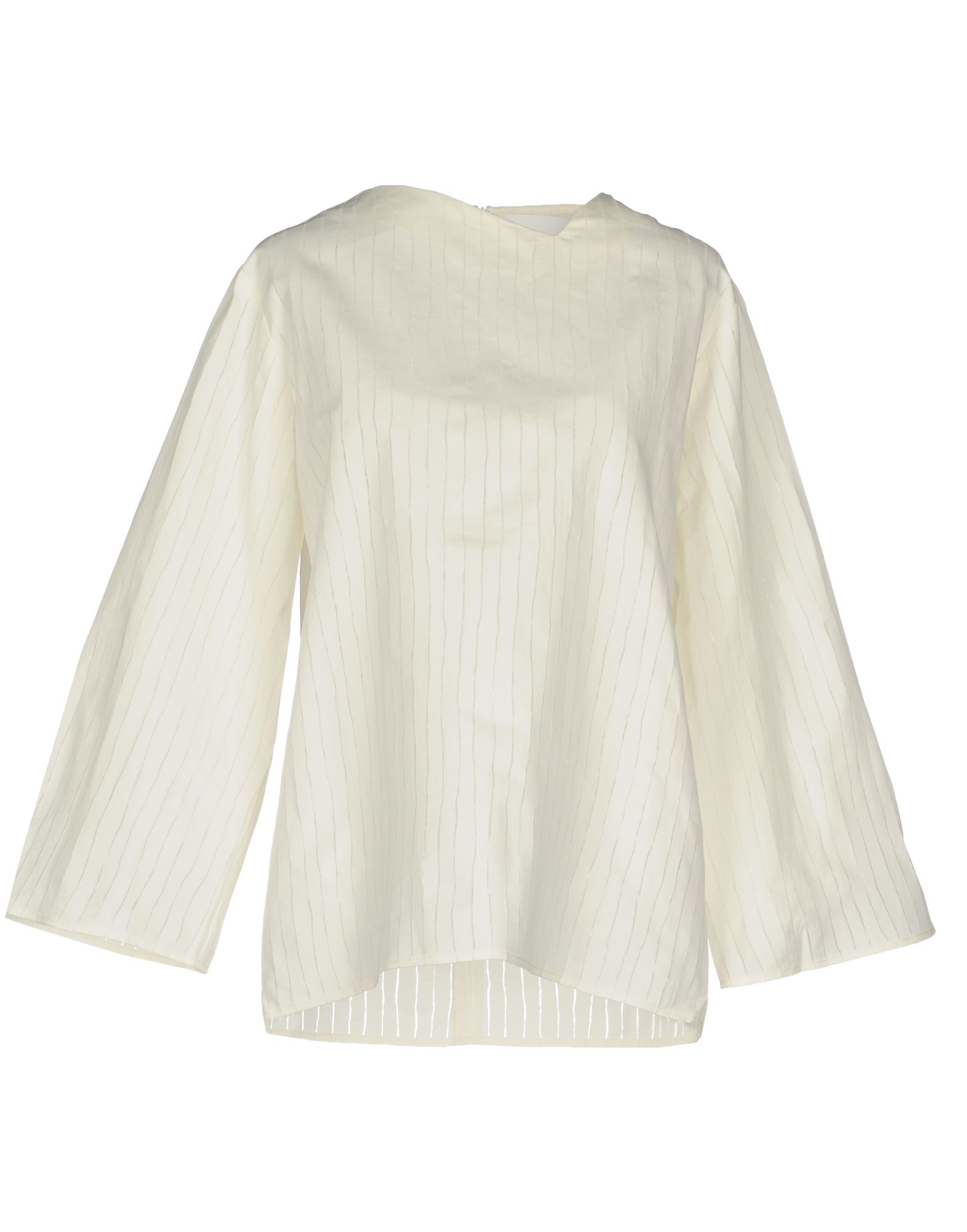 CHARLIE MAY Solid Color Shirts & Blouses in Ivory