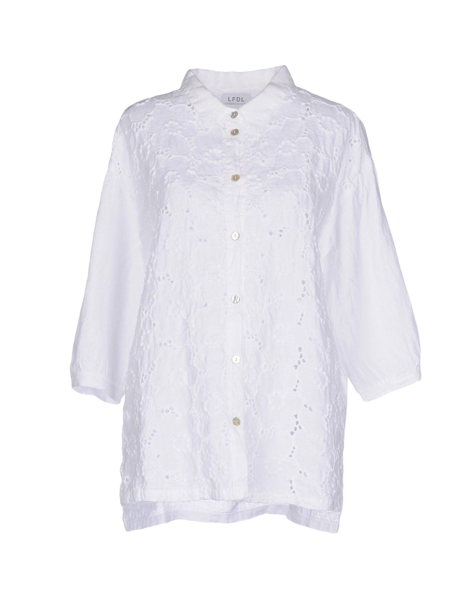 LA FABBRICA del LINO Damen Hemd Farbe Weiß Größe 5