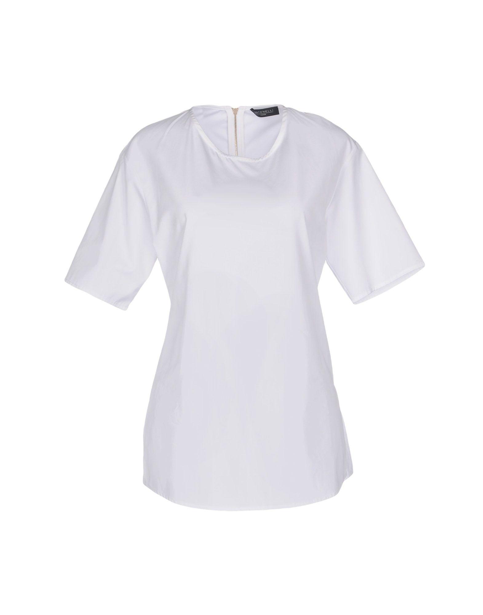 ANTONELLI Блузка блузка с рисунком короткие рукава вырез сзади