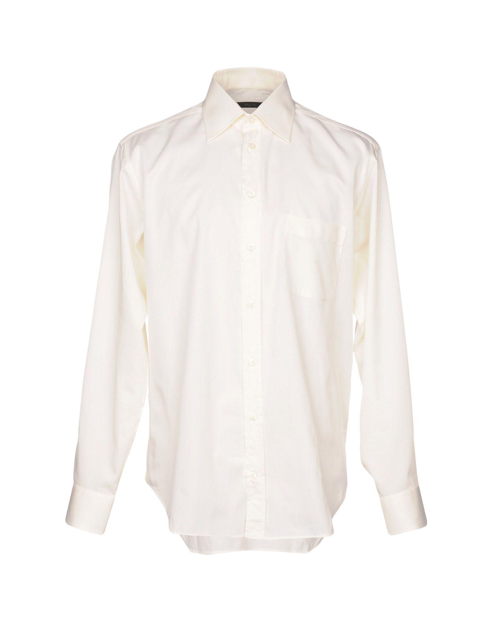 《送料無料》BAGUTTA メンズ シャツ アイボリー 42 コットン 100%