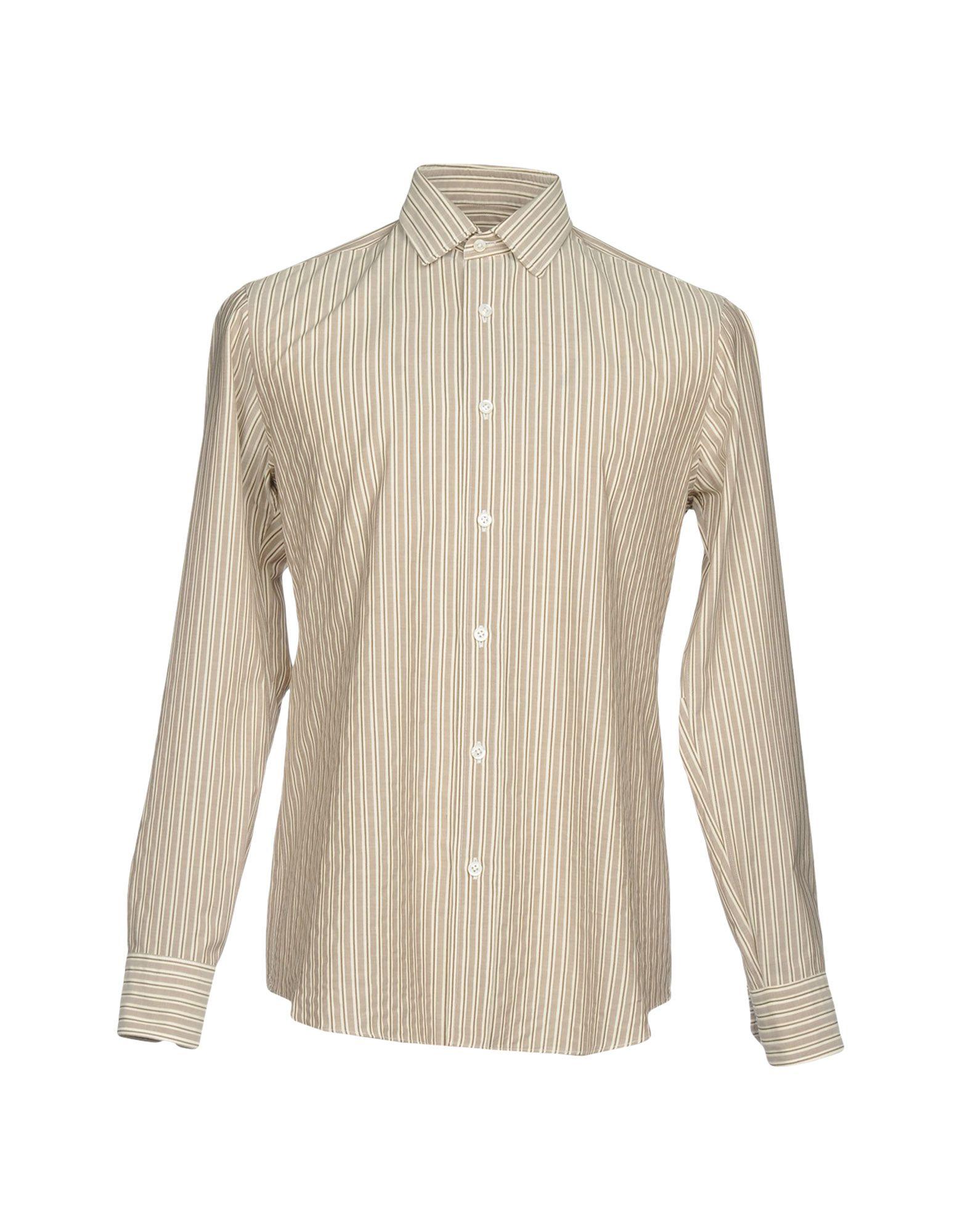 SALVATORE PICCOLO Herren Hemd Farbe Khaki Größe 9