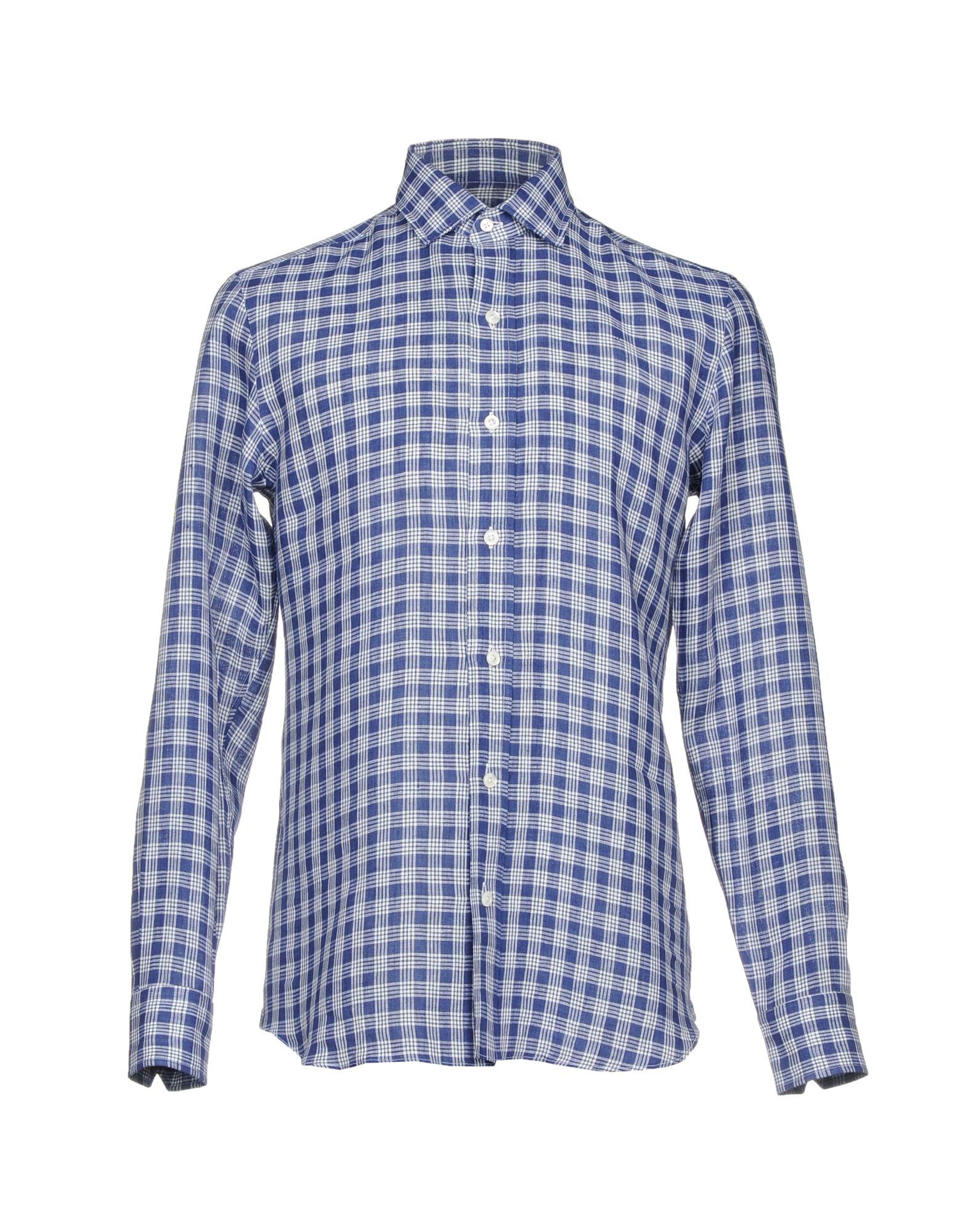 SALVATORE PICCOLO Herren Hemd Farbe Dunkelblau Größe 9