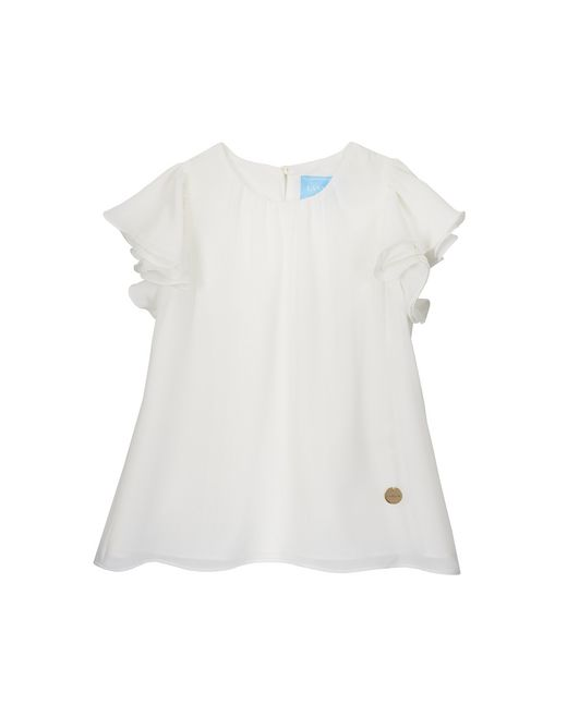 WHITE RUFFLED TOP - Lanvin