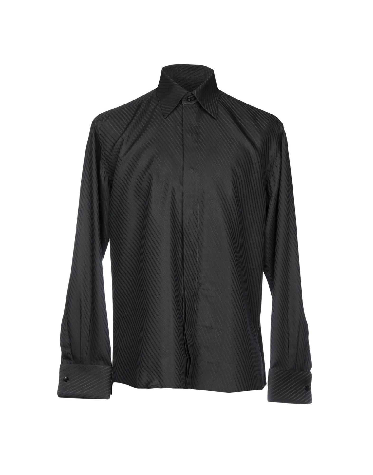 メンズ ROCCOBAROCCO シャツ ブラック