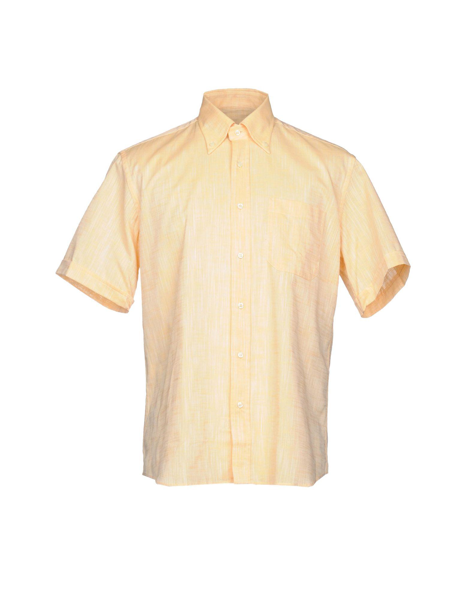 メンズ ROCCOBAROCCO シャツ あんず色