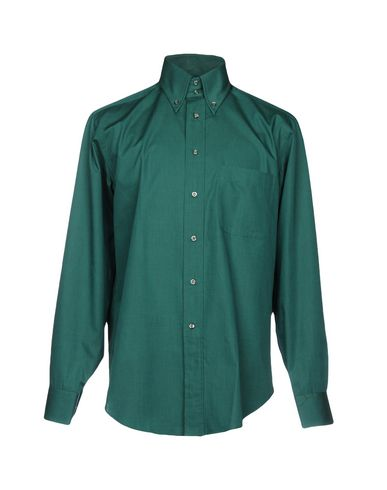 BAGUTTA メンズ シャツ グリーン 40 コットン 100%
