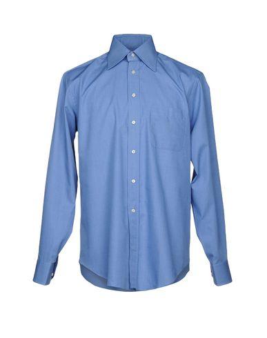 BAGUTTA メンズ シャツ アジュールブルー 40 コットン 100%
