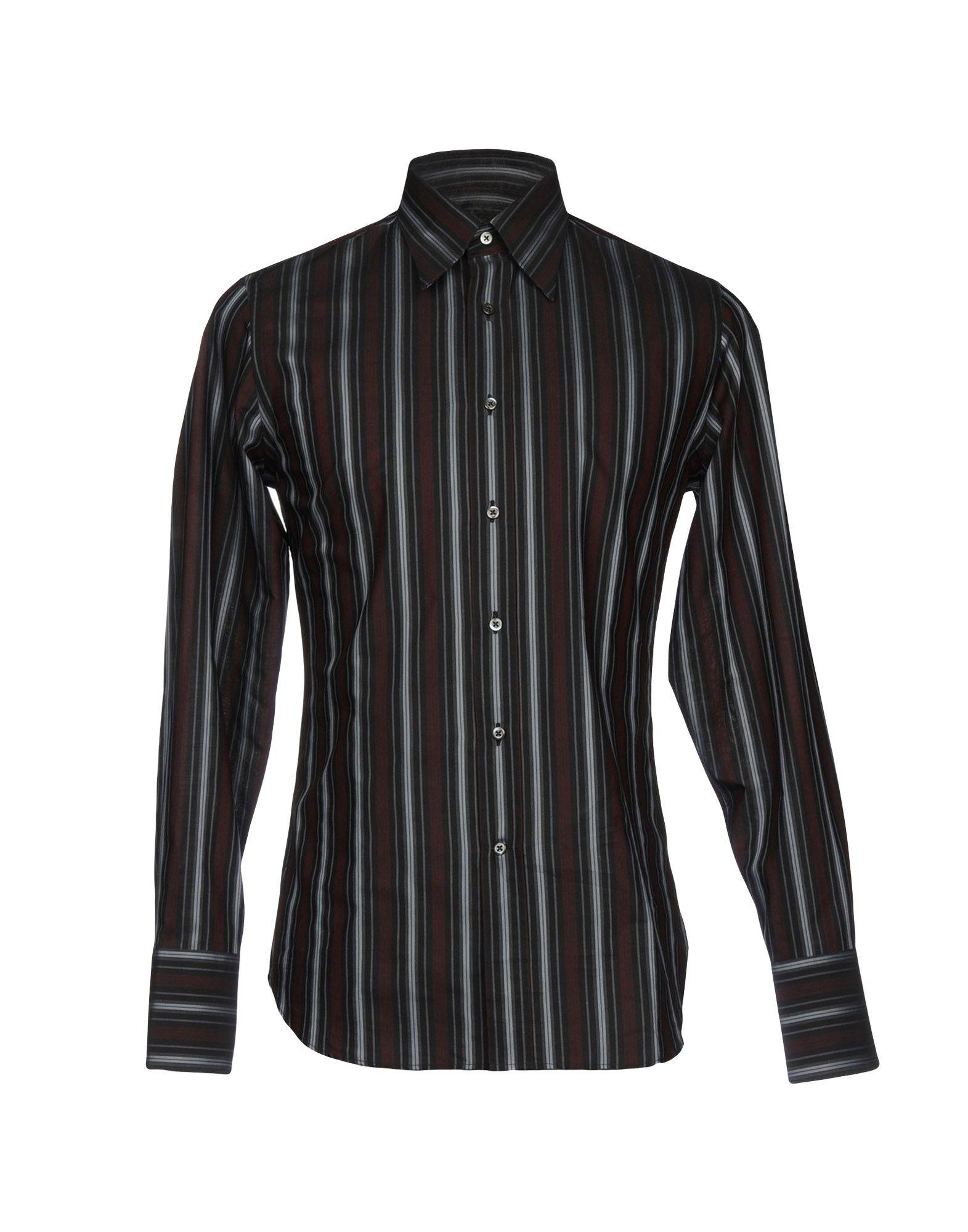 《送料無料》BAGUTTA メンズ シャツ ブラック 38 コットン 100%