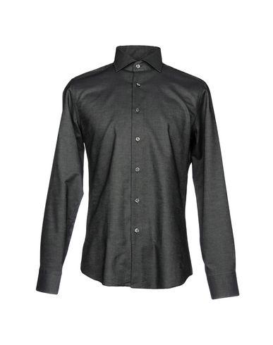 BAGUTTA メンズ シャツ ブラック 40 コットン 100%
