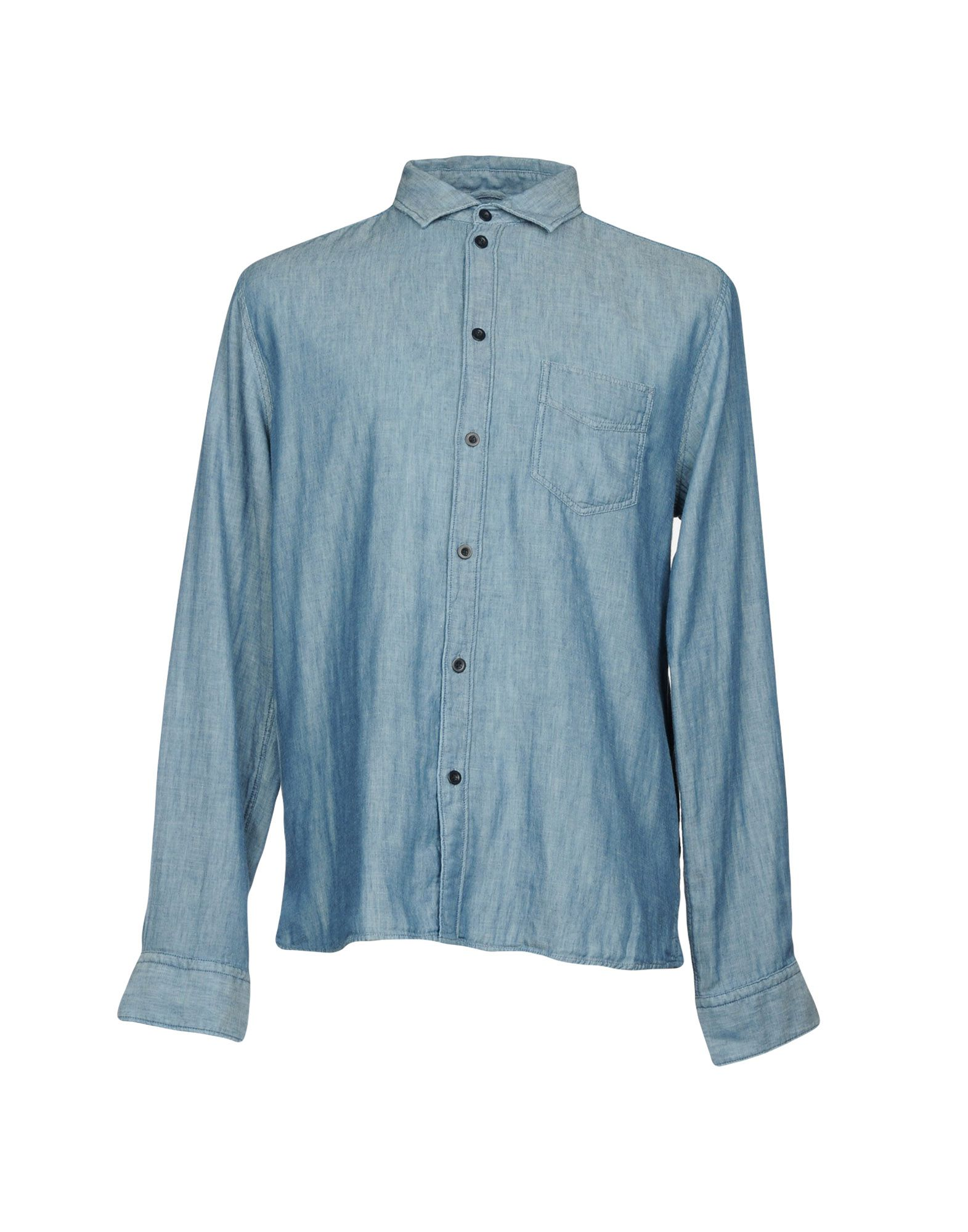 ALBAM Solid Color Shirt in Blue
