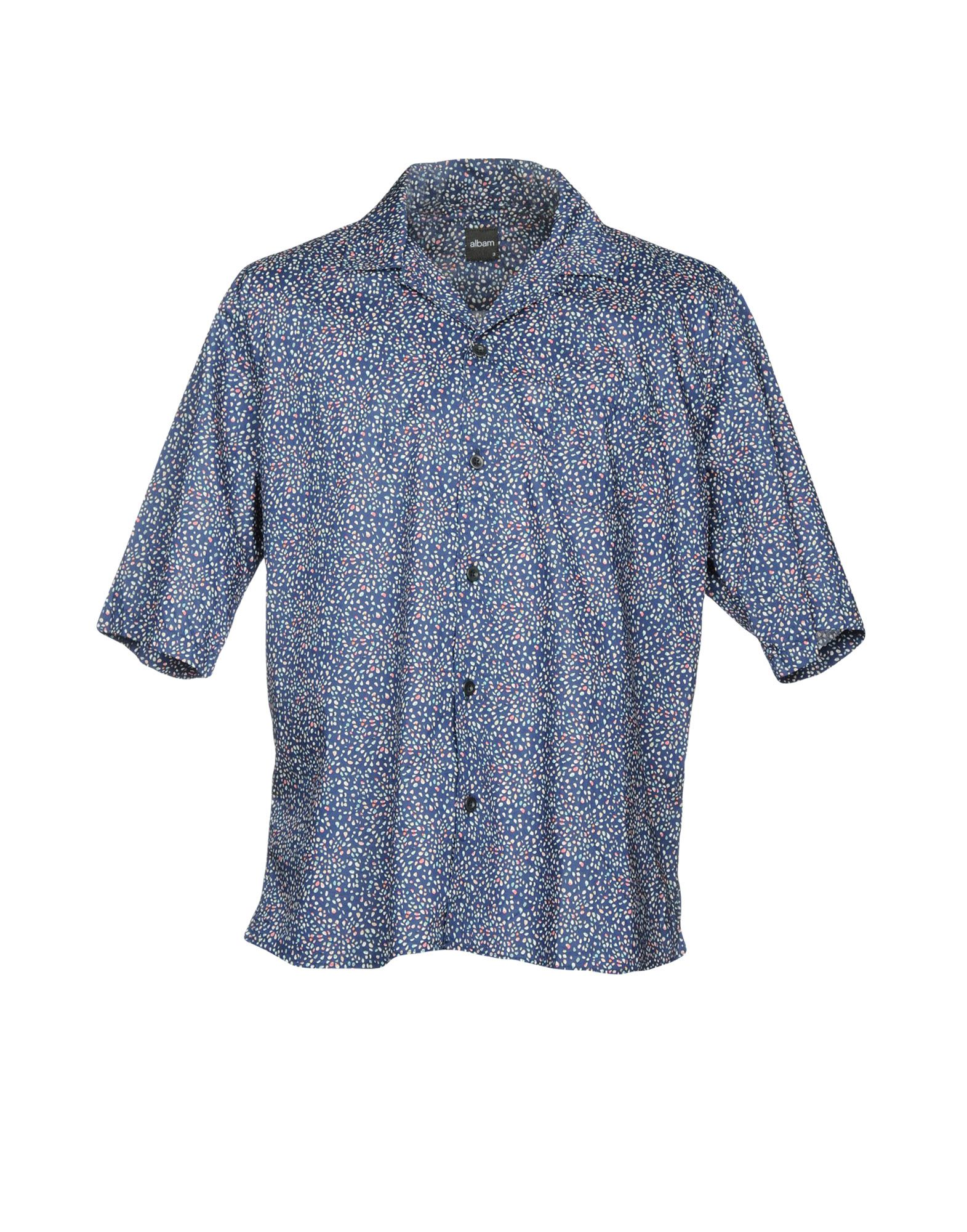 ALBAM Patterned Shirt in Dark Blue