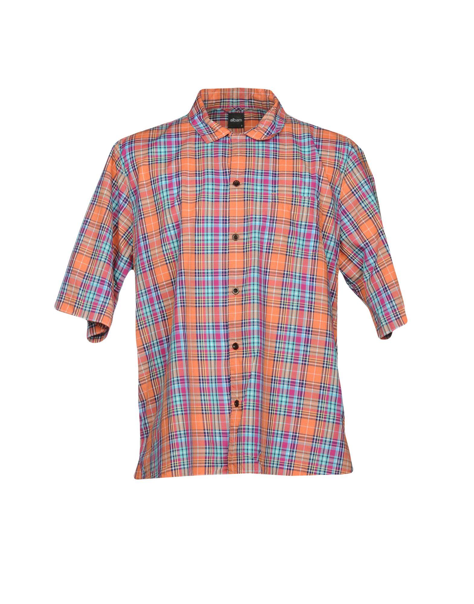 《送料無料》ALBAM メンズ シャツ オレンジ 0 コットン 100%