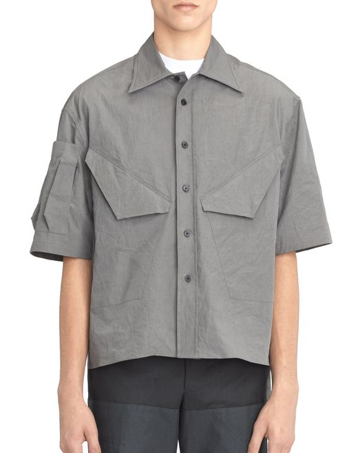 OVERSIZED GRAY SHIRT - Lanvin