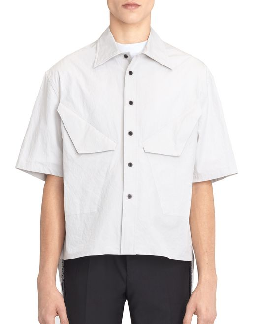 OVERSIZED LIGHT GRAY COLORED SHIRT - Lanvin