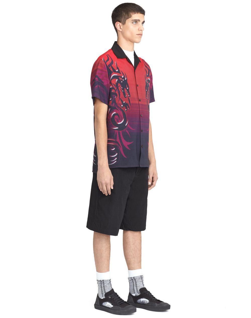 """DRAGON TRIBAL"" BOWLING SHIRT - Lanvin"