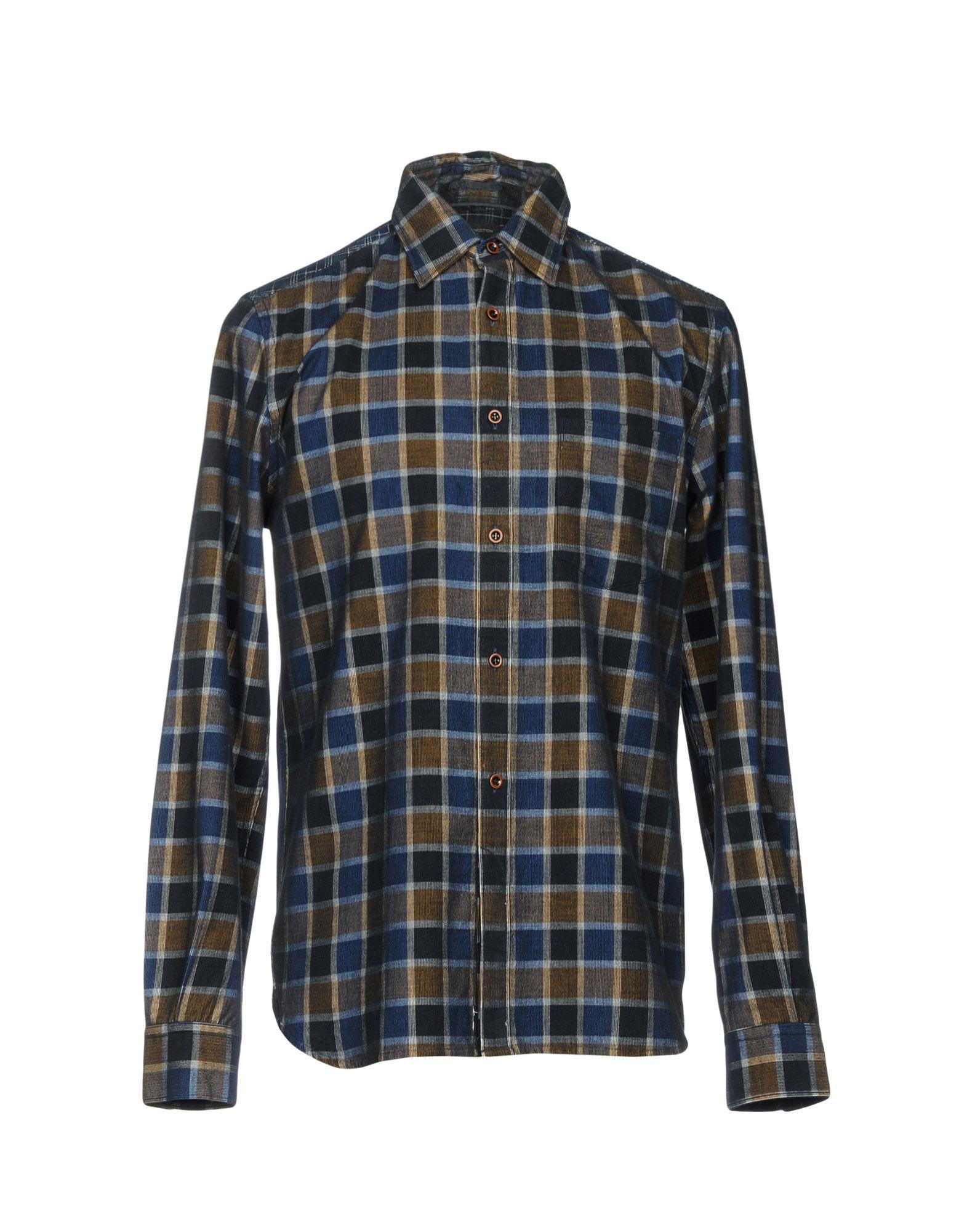 《期間限定 セール開催中》FRENCH CONNECTION メンズ シャツ ダークブルー M コットン 100%